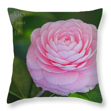 Perfection With Message Throw Pillow
