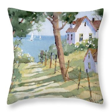 Perfectly Peaceful Nantucket Throw Pillow