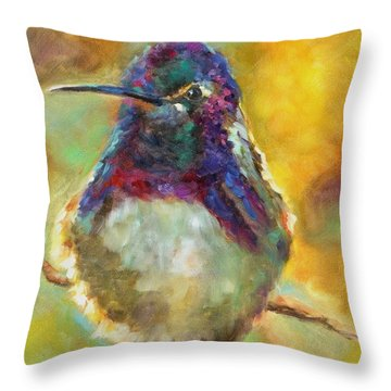 Perfectly Plump Throw Pillow by Chris Brandley
