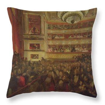 Performance Of Hernani By Victor Hugo Throw Pillow