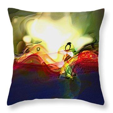 Performance Throw Pillow by Richard Thomas