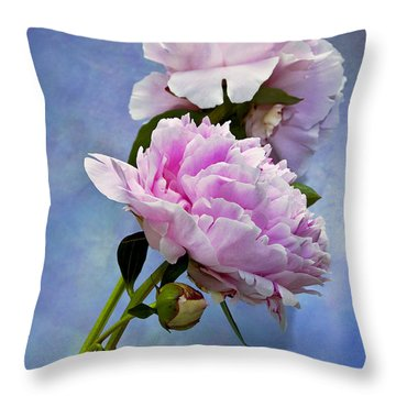 Perfume And Powdery Pastels Throw Pillow by Theresa Tahara