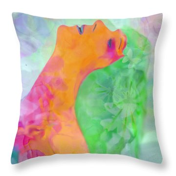 Perfume Of Love Throw Pillow by Martina  Rathgens