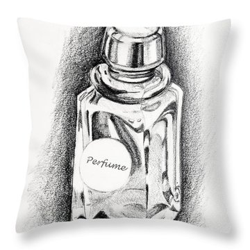 Perfume Bottle Throw Pillow