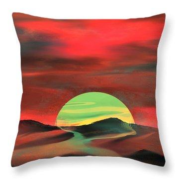 Perigee Moon Throw Pillow by Yul Olaivar
