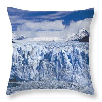Perito Moreno Glacier Argentina Throw Pillow by Rudi Prott