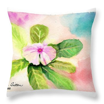 Throw Pillow featuring the painting Periwinkle by C Sitton