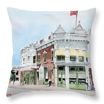 Perkins Building Throw Pillow
