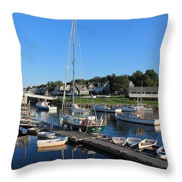 Perkins Cove Ogunquit Maine 2 Throw Pillow