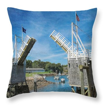 Perkins Cove Drawbridge Textured Throw Pillow