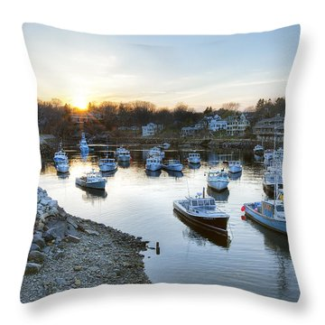 Perkins Cove Throw Pillow by Eric Gendron