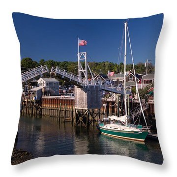 Perkins Cove Ogunquit Maine Throw Pillow