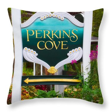 Perkins Cove Sign Throw Pillow