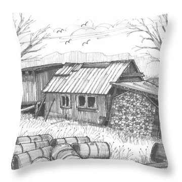Perkins Maple Sugar House Throw Pillow