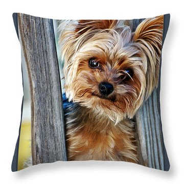 Perky Pup Throw Pillow