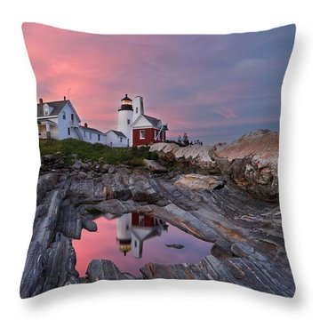 Permaquid Lighthouse Throw Pillow