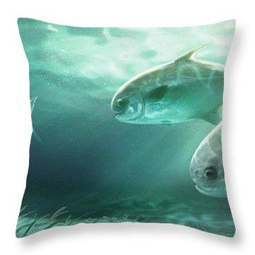 Permit Prowl Throw Pillow