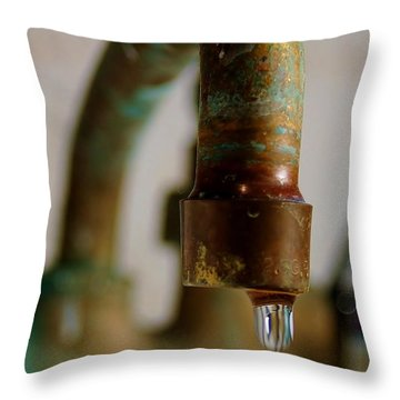 Throw Pillow featuring the photograph Perpetual Drip by Patrick Shupert