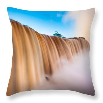 Perpetual Flow Throw Pillow by Inge Johnsson