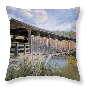 Perrine's Covered Bridge Throw Pillow