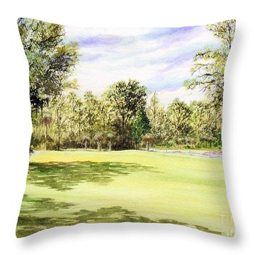 Perry Golf Course Florida  Throw Pillow by Bill Holkham