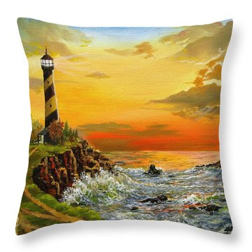 Perry's Point Throw Pillow by Kevin F Heuman