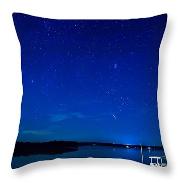 Perseid Meteor Throw Pillow