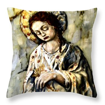 Persephone Throw Pillow by Carrie Joy Byrnes