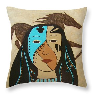 Perseverance Of The Mare And Maiden Throw Pillow
