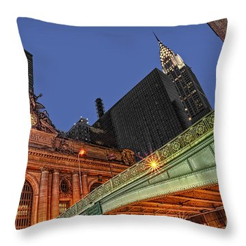 Pershing Square Throw Pillow by Susan Candelario