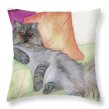 Persian Attitude Throw Pillow by Nan Wright