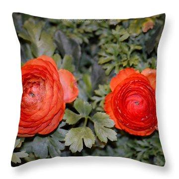 Persian Buttercups Throw Pillow by Sonali Gangane