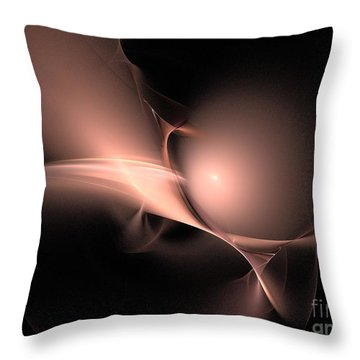 Persistent Thoughts / Pink Pearls In The Dark  Throw Pillow by Elizabeth McTaggart