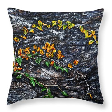 Throw Pillow featuring the painting Persistence by Craig T Burgwardt