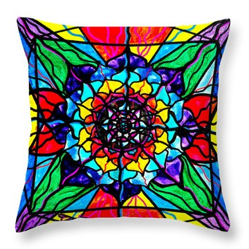 Personal Expansion Throw Pillow by Teal Eye  Print Store