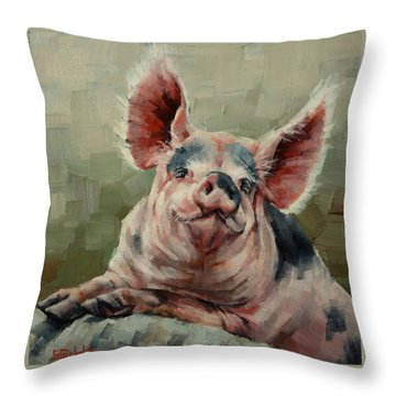 Personality Pig Throw Pillow