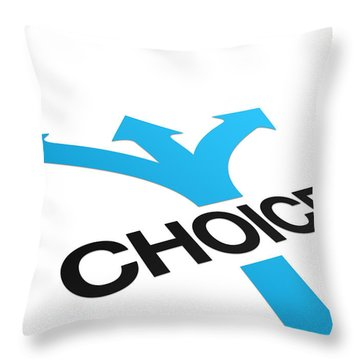 Perspective Choices Sign Throw Pillow