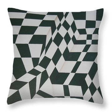Perspective Confusion Throw Pillow by Leana De Villiers