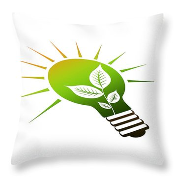 Perspective Ico Light Bulb Throw Pillow by Aged Pixel