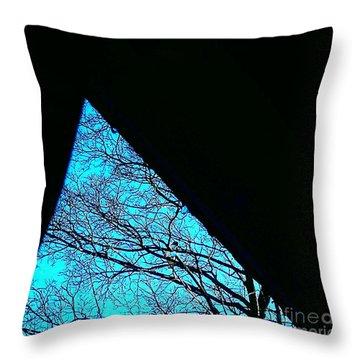 Blue Triangle Throw Pillow