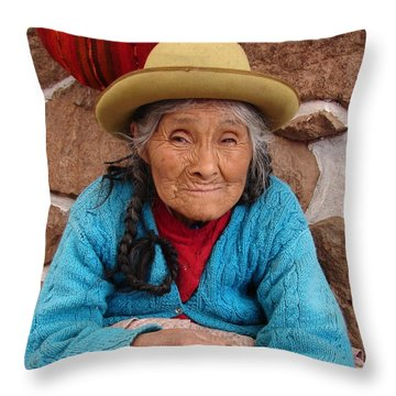 Peruvian Beauty Throw Pillow