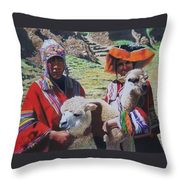 Peruvians Throw Pillow