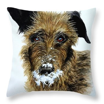 Pet Portraits Now Available Throw Pillow