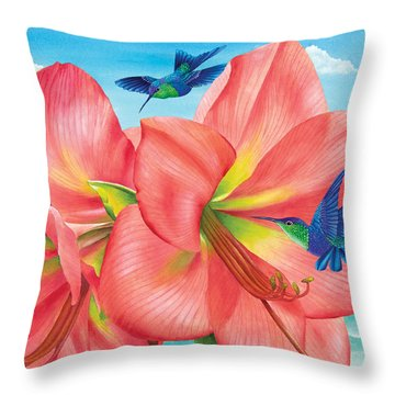 Petal Passion Throw Pillow by Carolyn Steele