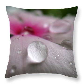 Petal Surfing II Throw Pillow by Patti Whitten