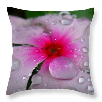 Petal Surfing Throw Pillow by Patti Whitten