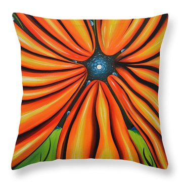 Petal To The Mental Throw Pillow by Tony Oakey