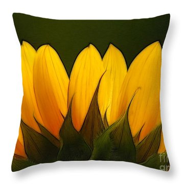 Petales De Soleil - A01 Throw Pillow by Variance Collections