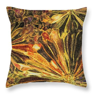 Petals 1 Throw Pillow by Terence Morrissey