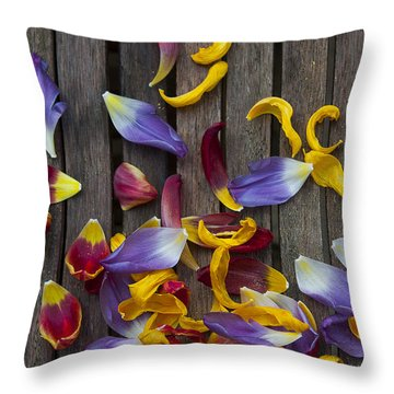Petals Abstract Throw Pillow by Svetlana Sewell